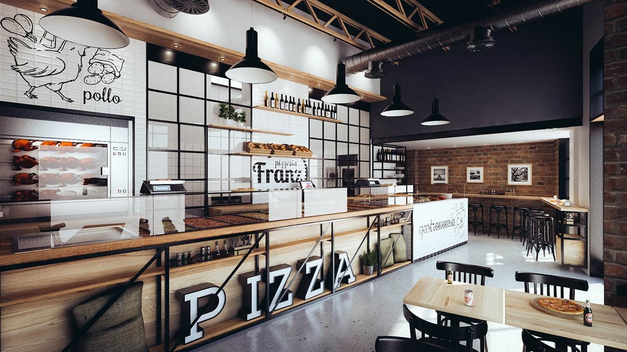 Pizzeria franz in scala - Interior design roma ...